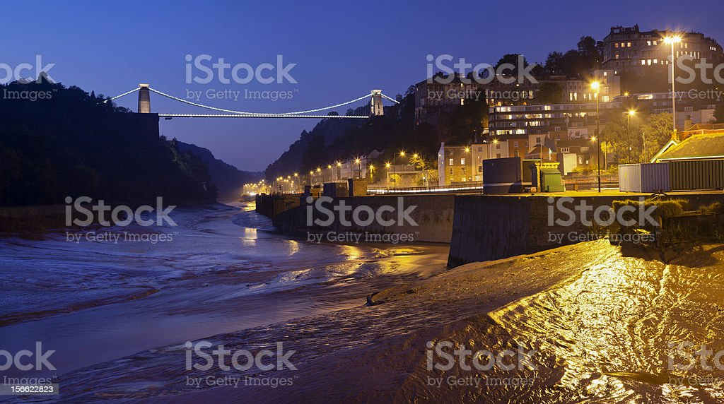 Clifton Suspension bridge Panorama royalty-free stock photo