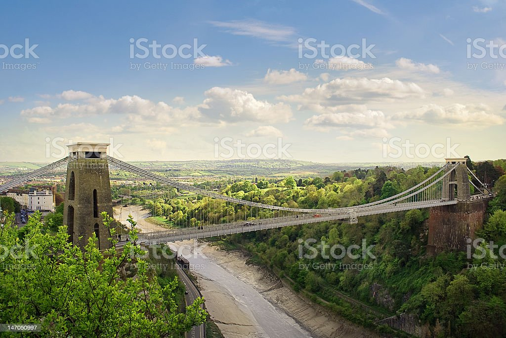 Clifton Suspension Bridge. stock photo