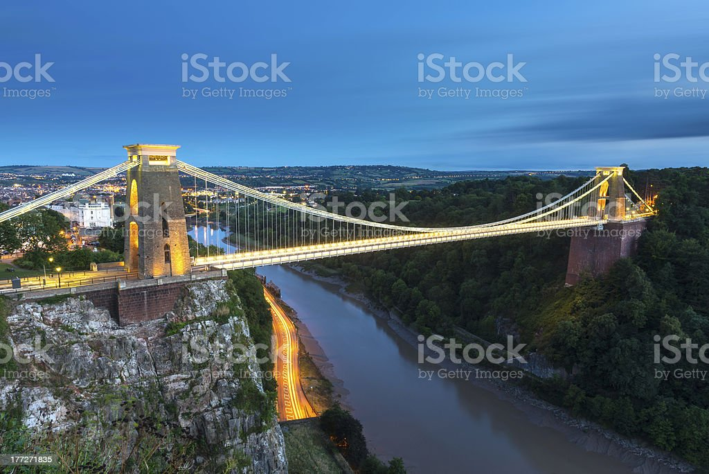 Clifton Suspension Bridge, River Avon, Bristol, England stock photo