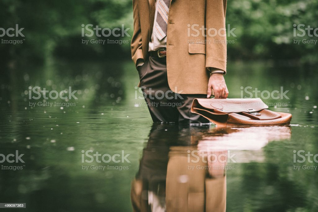 Climate Change as Economic Issue stock photo