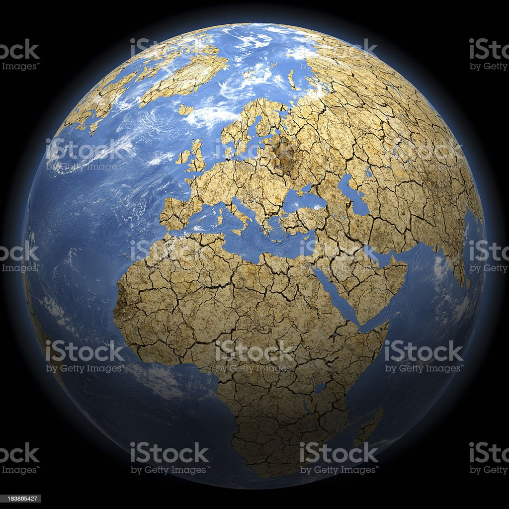 Climate Change Earth - Europe royalty-free stock photo