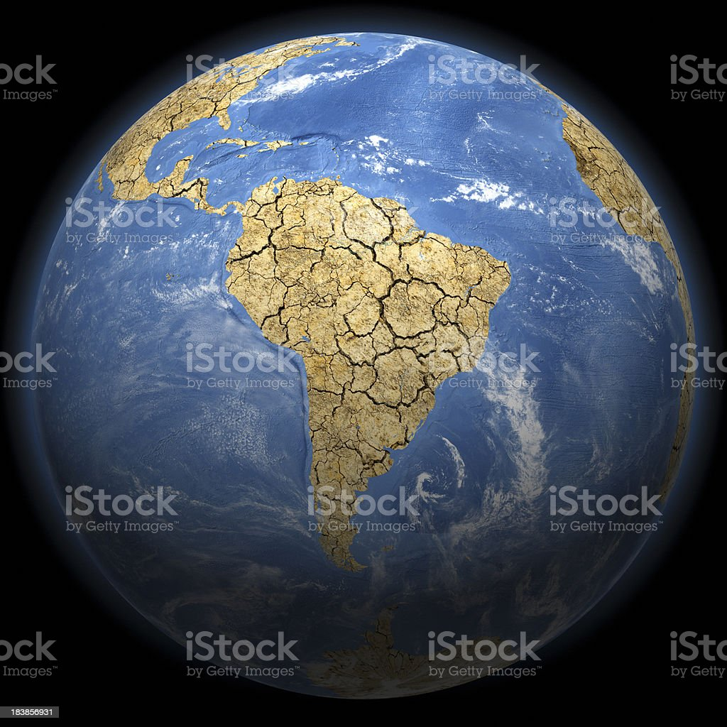 Climate Change Earth - South America royalty-free stock photo
