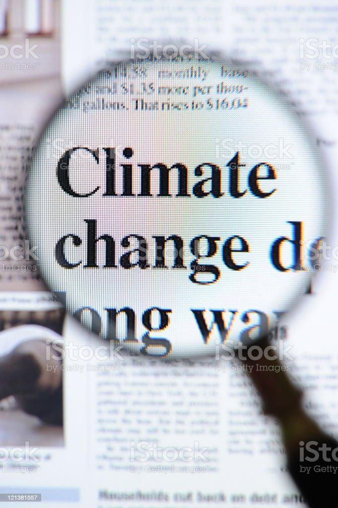Climate change headlines royalty-free stock photo