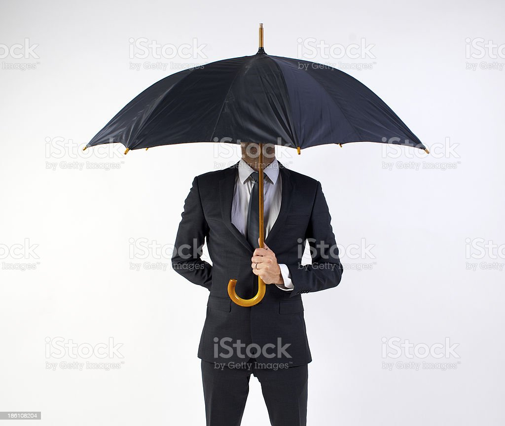 Climate change ready business man royalty-free stock photo