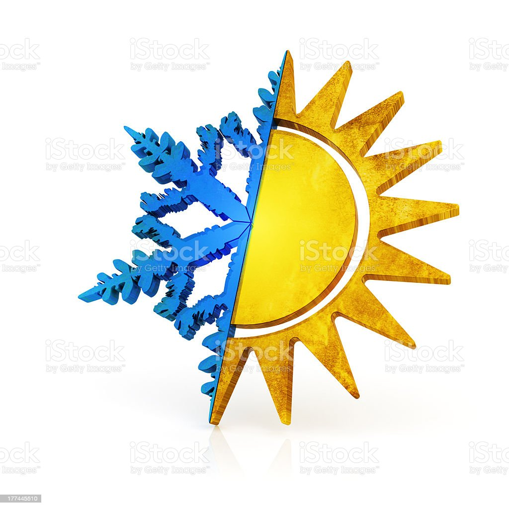 Climate control symbol stock photo