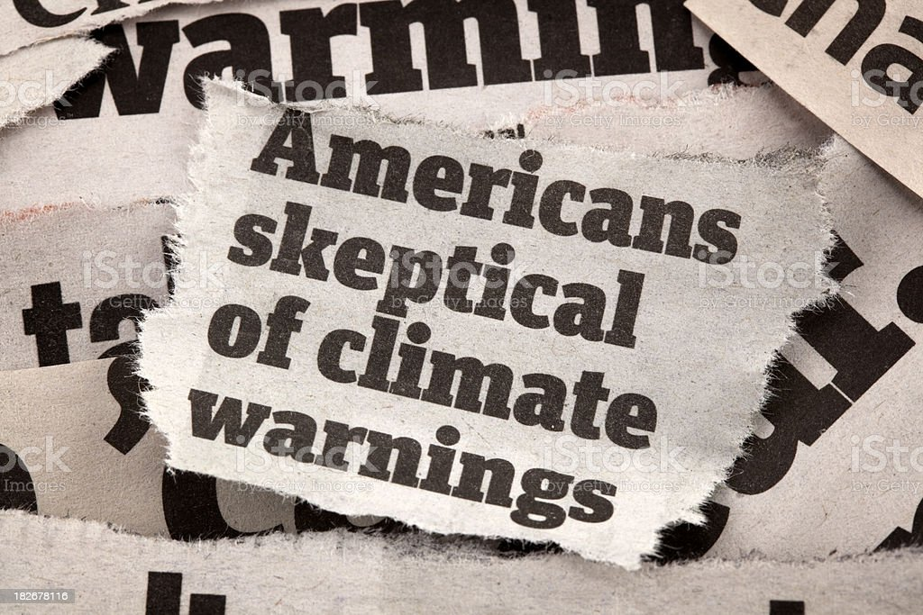 climate headlines royalty-free stock photo