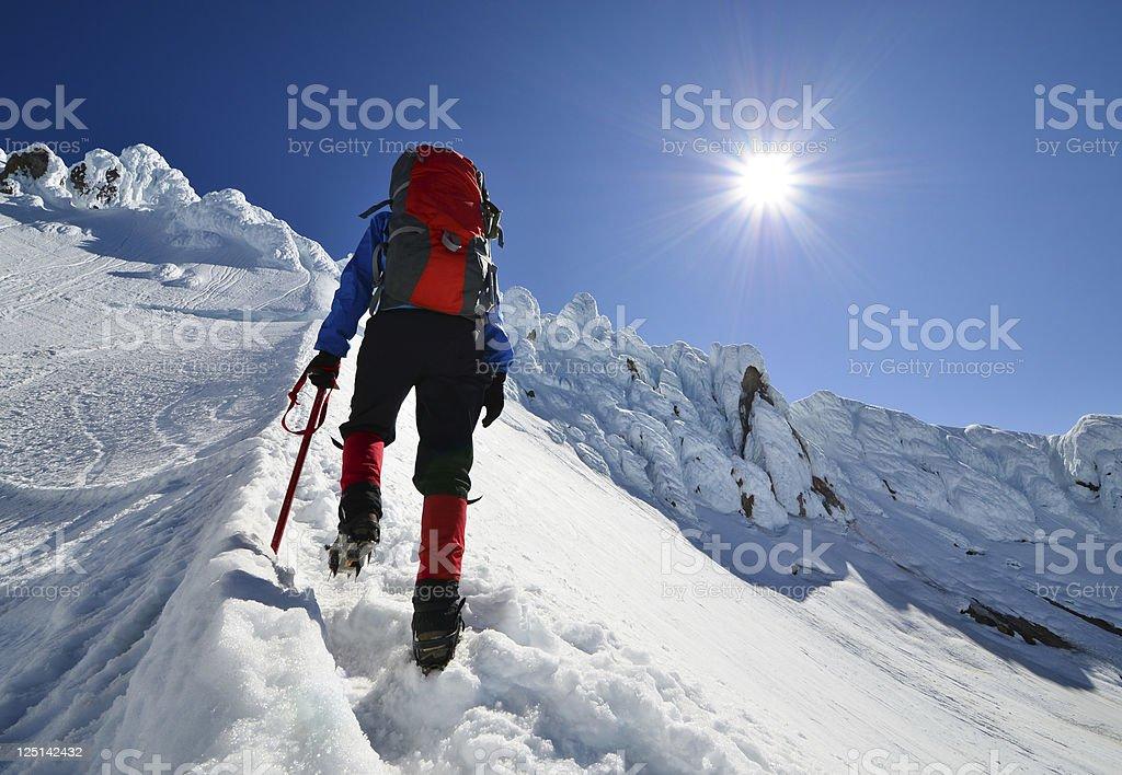 Climb higher stock photo