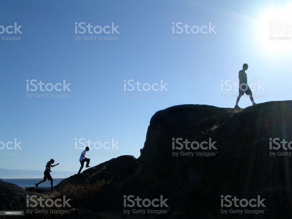 Climb into light royalty-free stock photo