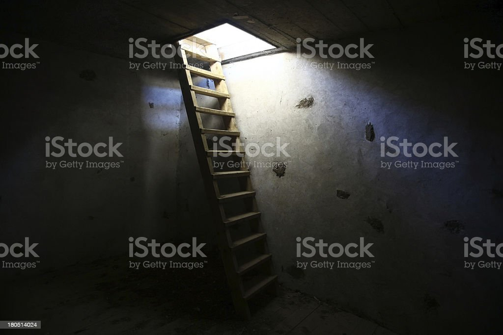 Climb into the light royalty-free stock photo