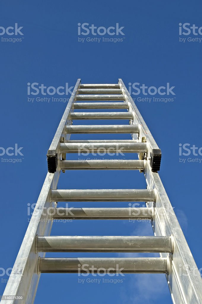 climb the corporate ladder stock photo