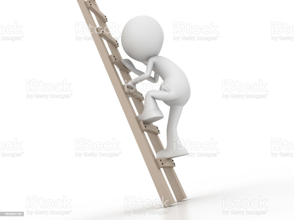 Climb to the future royalty-free stock photo