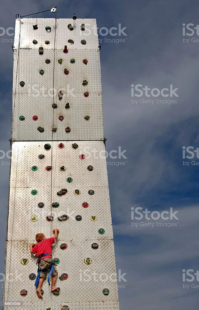 Climb to the top royalty-free stock photo