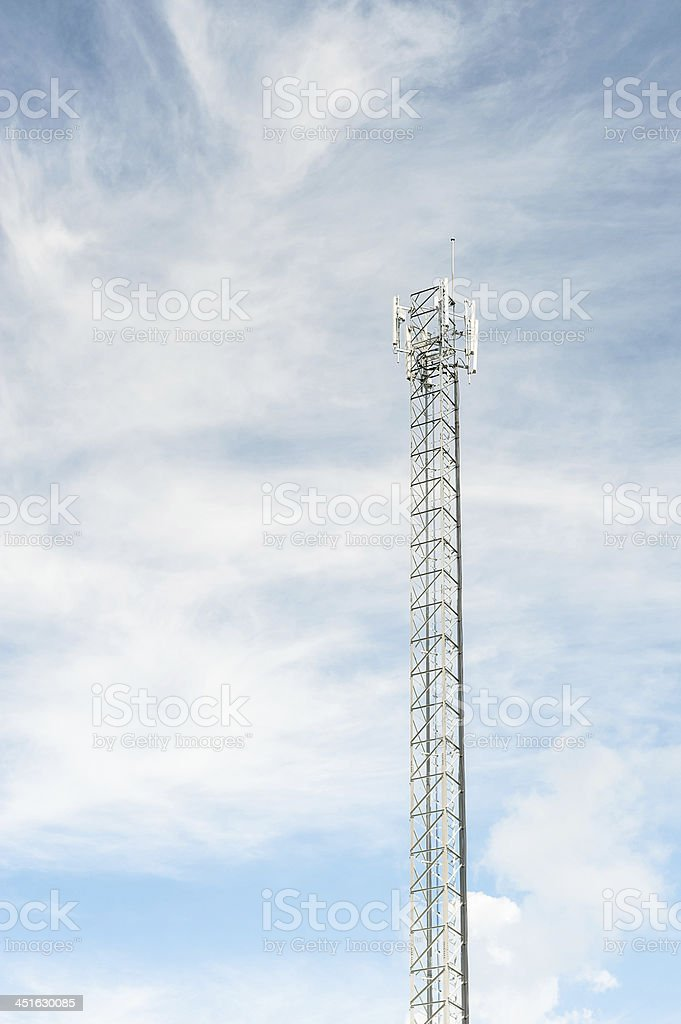 climber and working on cellular  system. stock photo