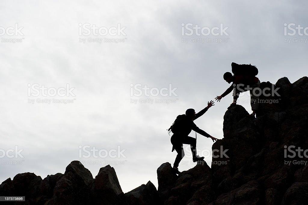 Climber Assist royalty-free stock photo