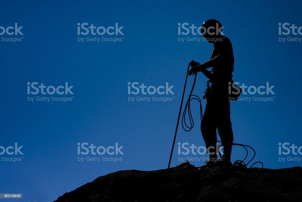 Wspinacz Asekuracja-wspinaczka zbiór zdjęć royalty-free