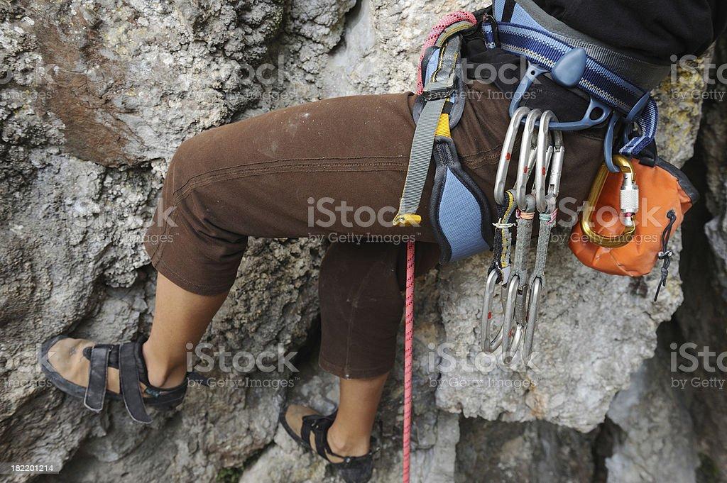 Climber equipment close up royalty-free stock photo