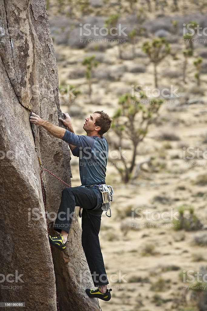Climber going for it. royalty-free stock photo