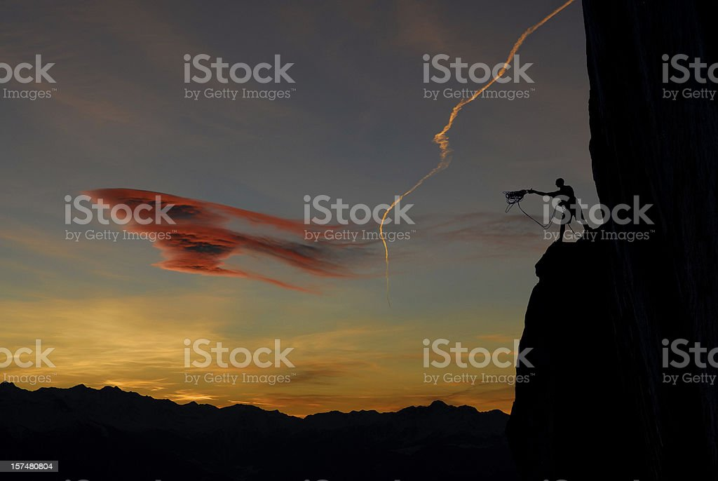 climber is lower in that royalty-free stock photo