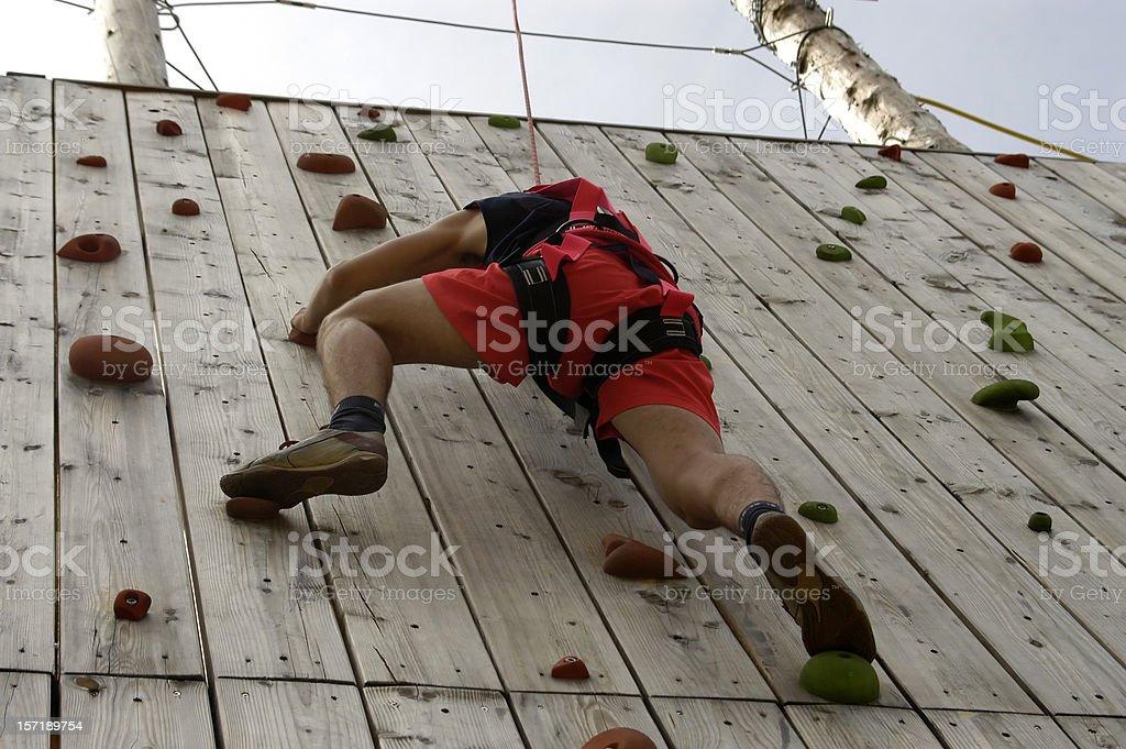 Climber on Climbing Course royalty-free stock photo