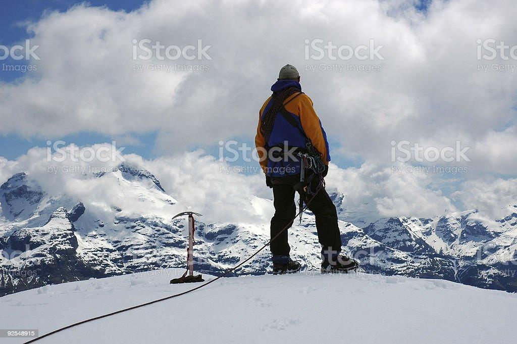 Climber on Summit royalty-free stock photo