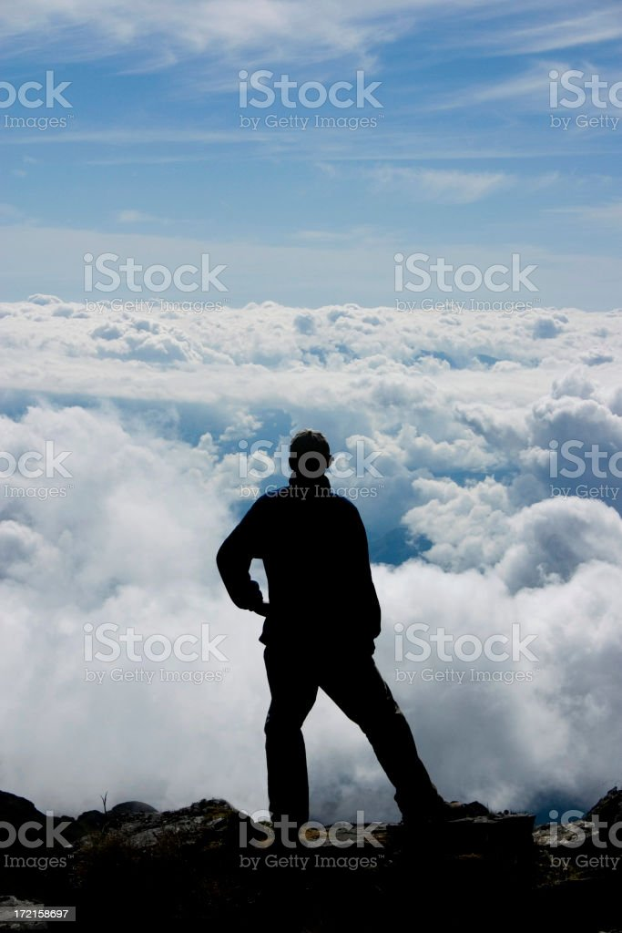 Climber on the edge royalty-free stock photo