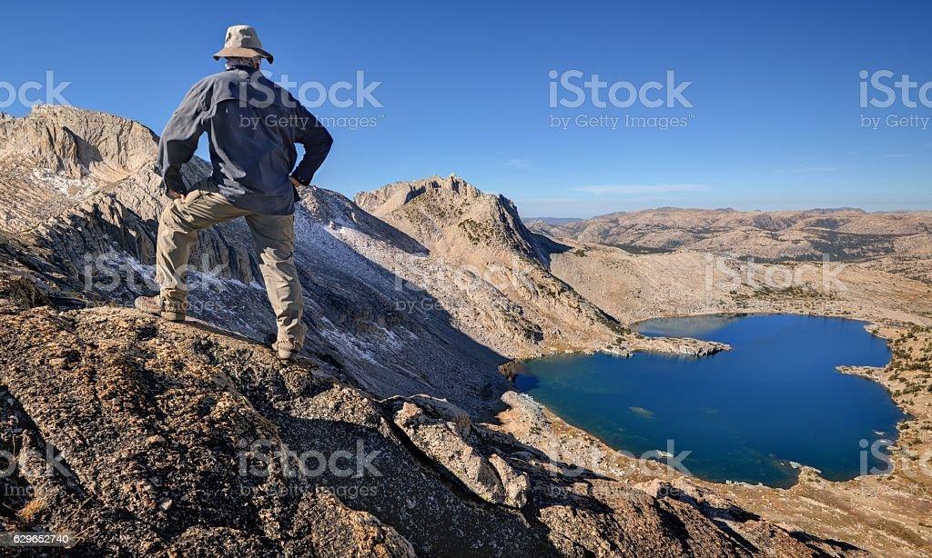 Climber on the Shepherd Crest stock photo