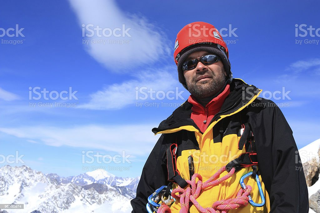 Climber on the top royalty-free stock photo
