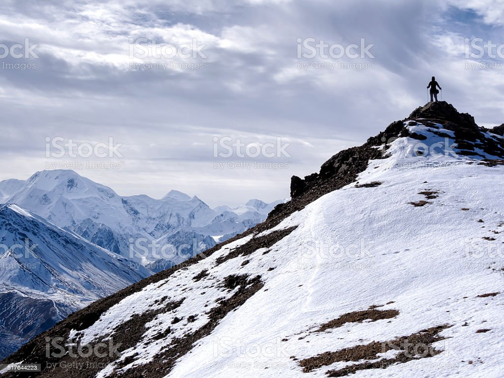 Climber On Top stock photo