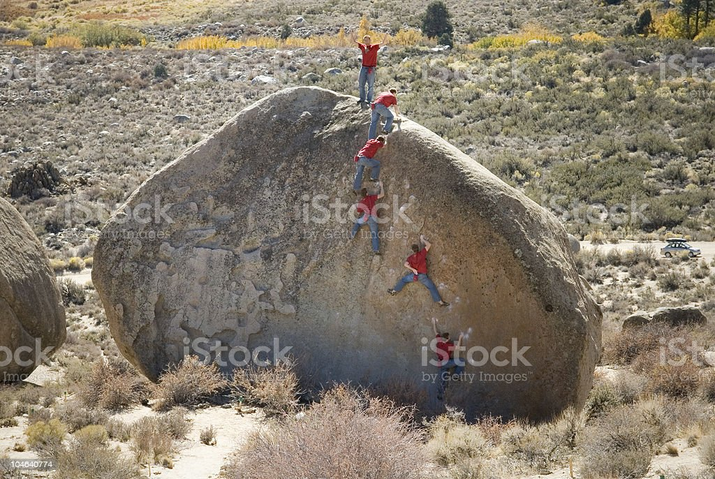 Climber Sequence 3 royalty-free stock photo
