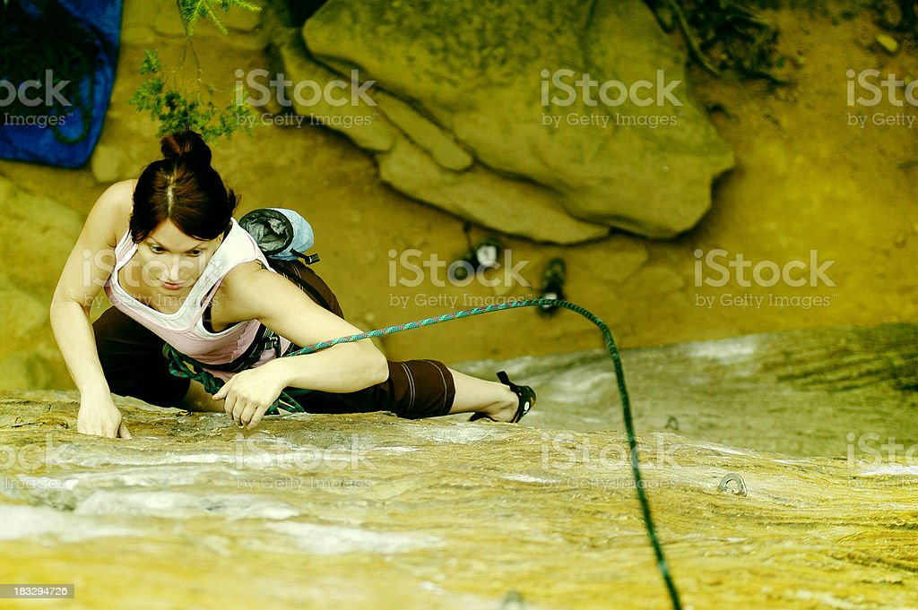 climber woman royalty-free stock photo