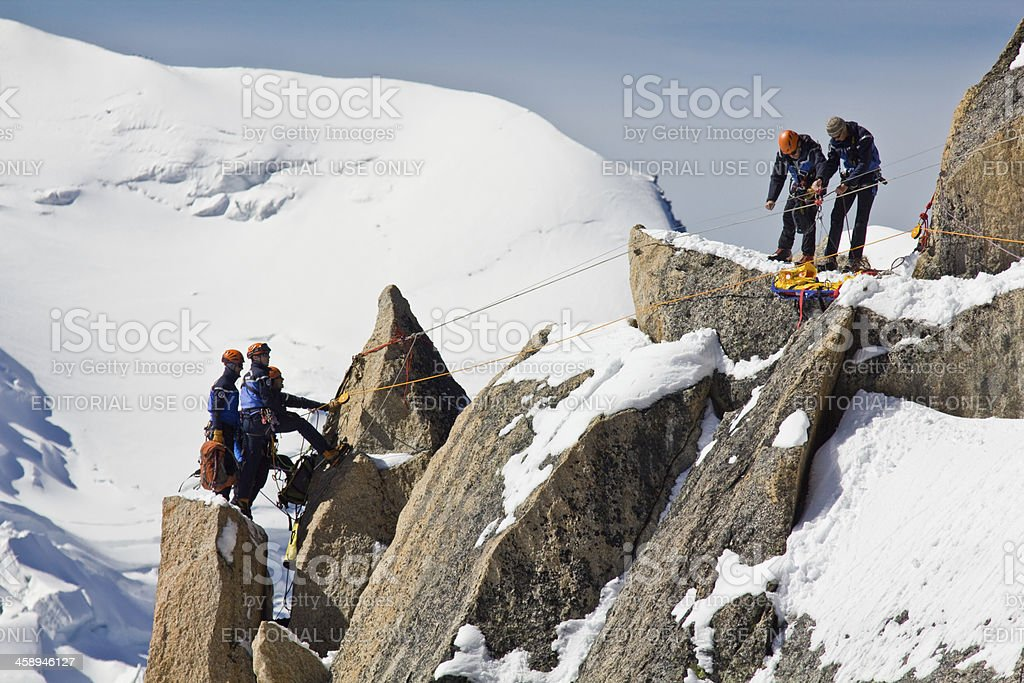 Climbers in Alps royalty-free stock photo