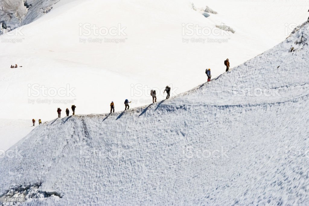 Climbers on mountain royalty-free stock photo