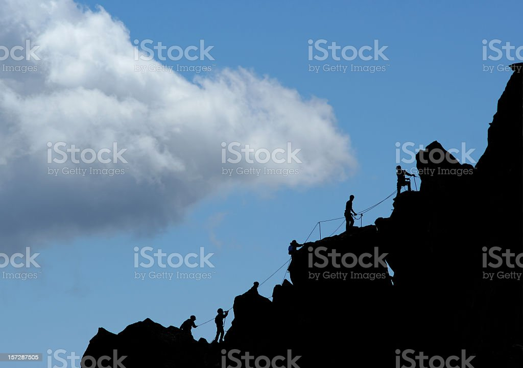 Climbers royalty-free stock photo