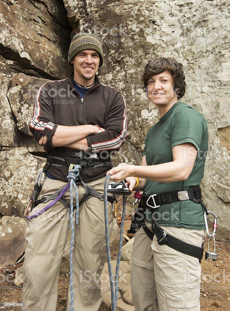 Climbers Ready royalty-free stock photo
