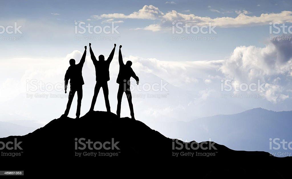 Climbers team stock photo