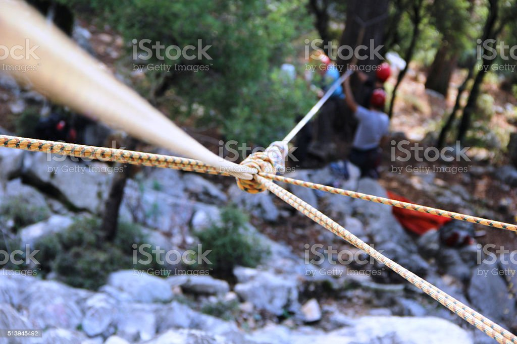 Climber/Search and resque safety stock photo