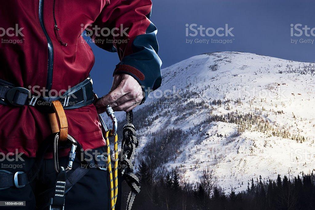 Climbing a mountain royalty-free stock photo