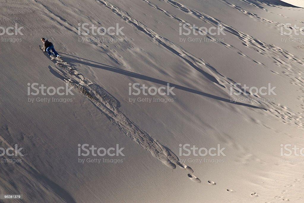 Climbing A Sandy Slope stock photo