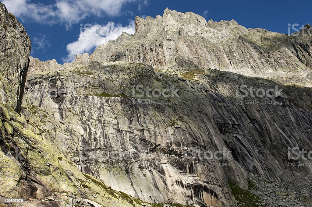 Climbing area in the Baechlital valley,Bernese Oberland royalty-free stock photo