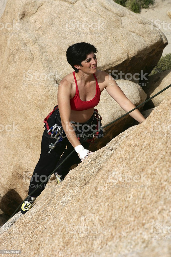 Climbing at Indian Cove royalty-free stock photo