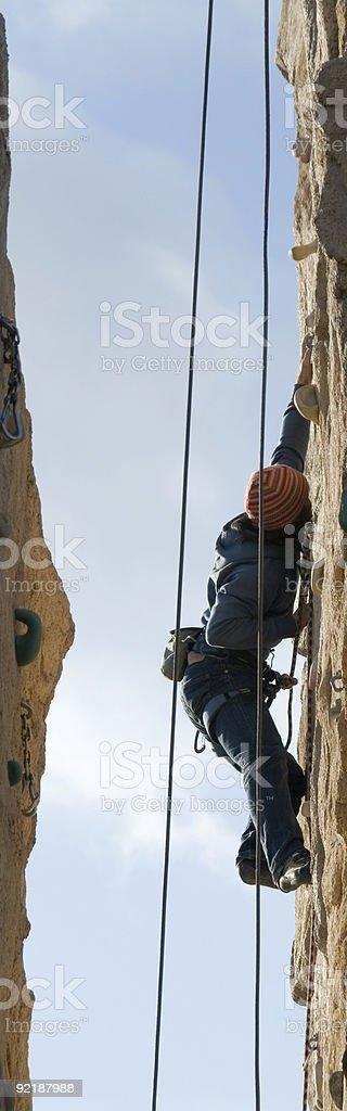 Climbing between royalty-free stock photo