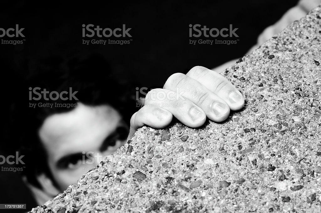 climbing burglar royalty-free stock photo