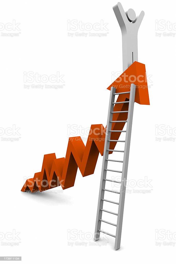 Climbing Chart royalty-free stock photo