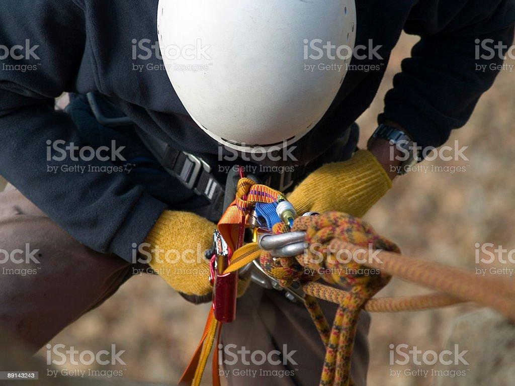 climbing equipment close-up royalty-free stock photo