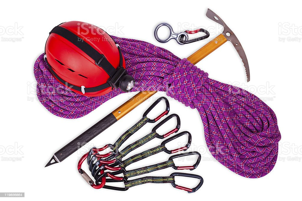 climbing equipment stock photo
