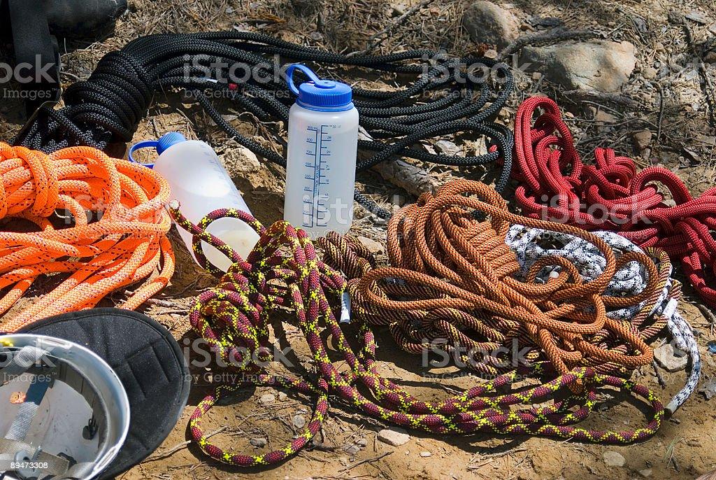 Kletterausrüstung Lizenzfreies stock-foto