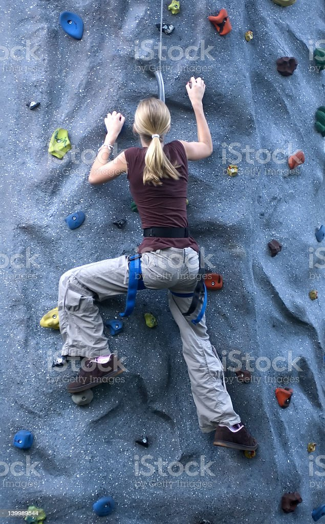 Climbing Girl stock photo