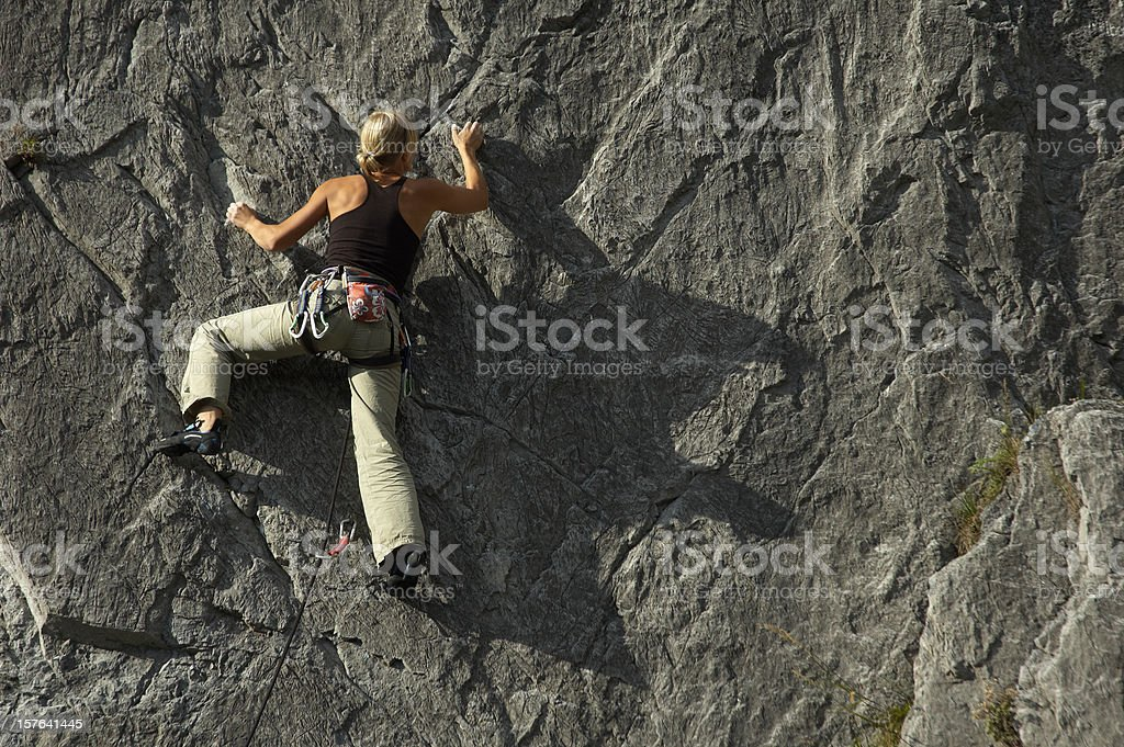Climbing Girl royalty-free stock photo