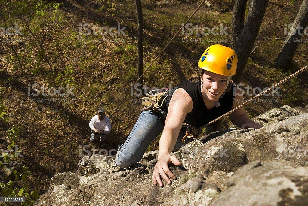 Climbing Girl #1 royalty-free stock photo