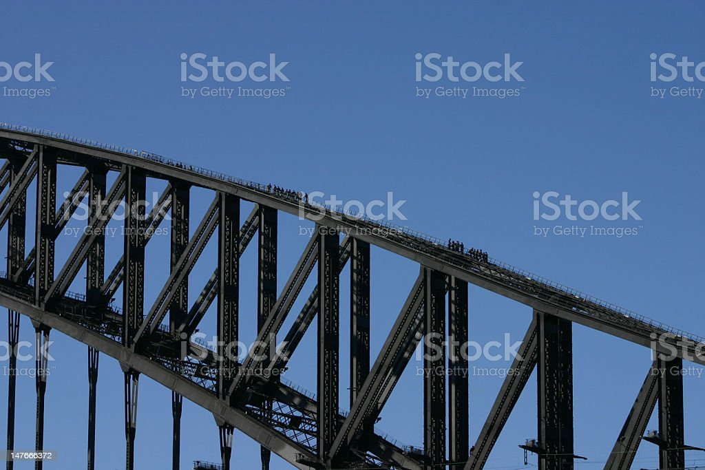 Climbing Harbour Bridge 2 stock photo